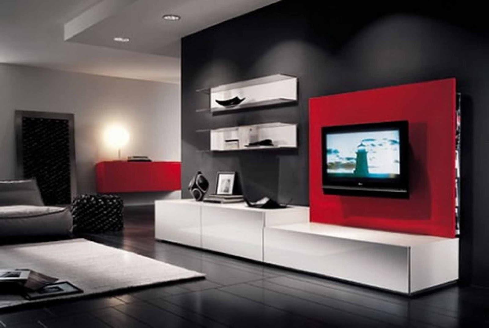 Interior Furniture Design For Living Room ~ Top modern tv cabinets designs living room tv wall units