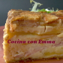 Pastel de bacon con manzana
