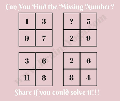 Maths Brain Teaser to find the missing Number