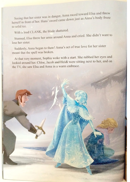 inside frozen story book
