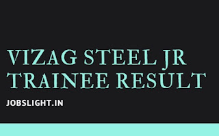 Vizag Steel Jr Trainee Result