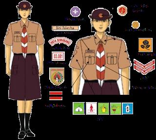 Model seragam pramuka penggalang Putri