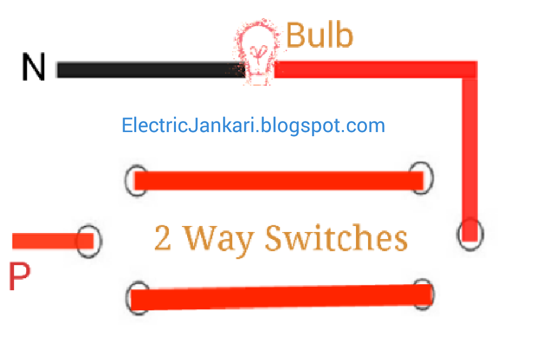 staircase wiring connection diagram