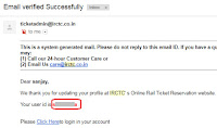 how to recover irctc id and password