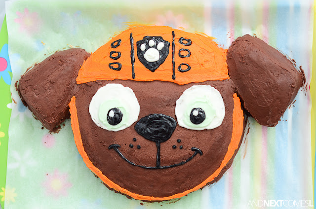 Tutorial for making a Paw Patrol birthday cake from And Next Comes L