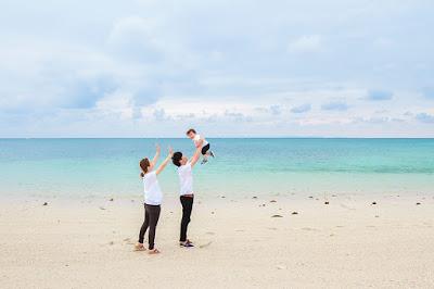 沖縄 曇りでも綺麗な海 写真撮影