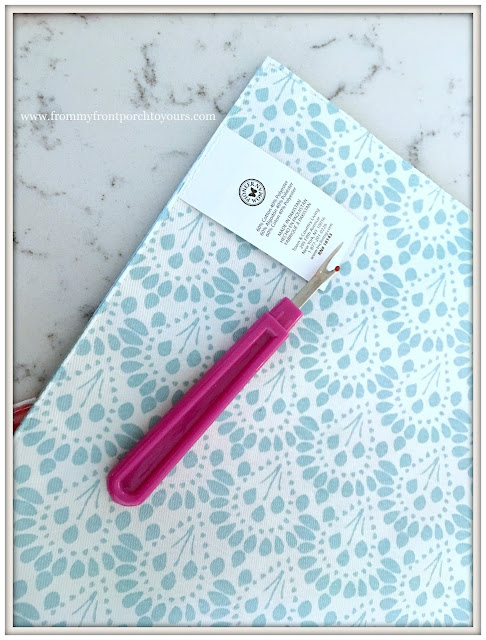 DIY-Pillows-Pioneer Woman Placemats-From My Front Porch To Yours