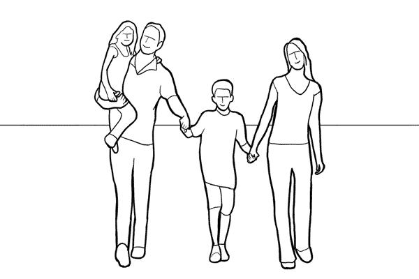 دليل أوضاع تصوير الأسرة بالصور 11