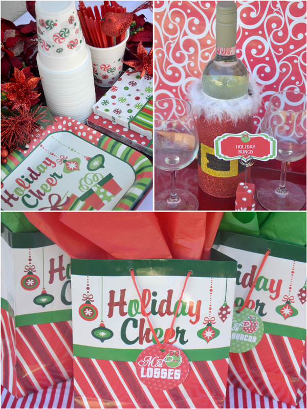 Bunco Christmas Party Ideas Part - 26: Fun Christmas Holiday Bunco Party Ideas - BirdsParty.com