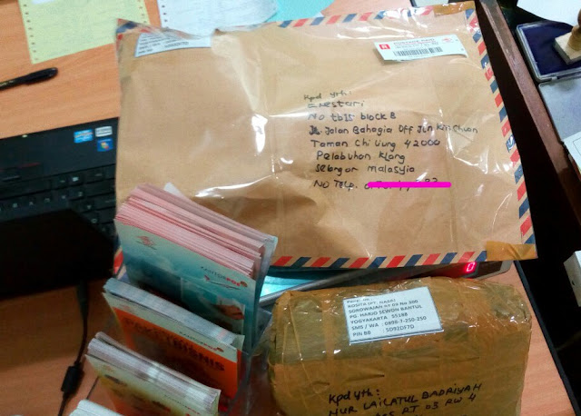Bukti kirim rositashop ke Selangor Malasyia