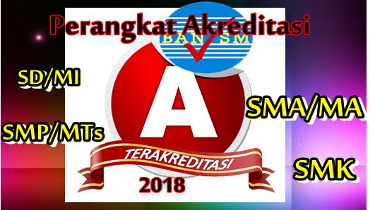 Perangkat Akreditasi SD/MI, SMP/MTs, SMA/MA, SMK 2018