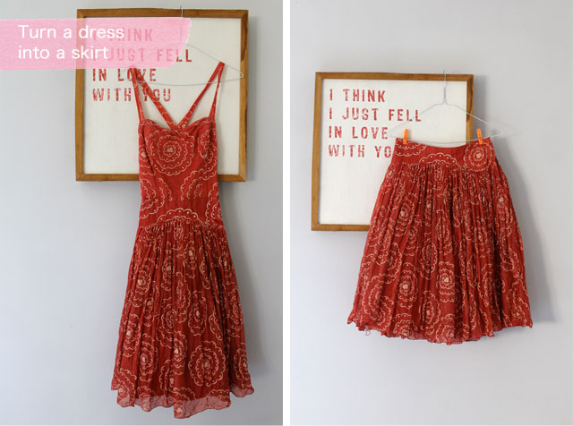DIY - turn a dress into a skirt | Lotts and Lots | Making ...