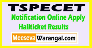 Telangana TSPECET 2017 Notification Online Apply Fee Payment Hallticket Results
