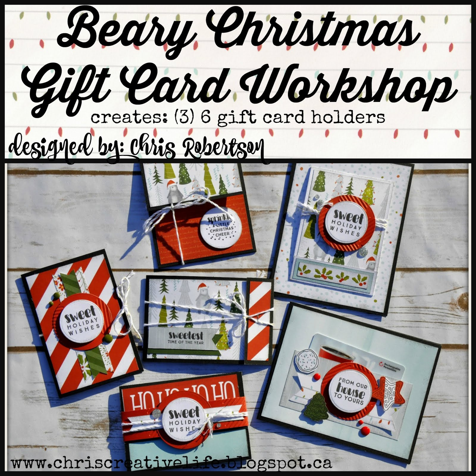 Beary Christmas Gift Card Workshop