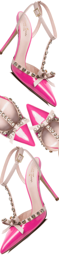 Kate Spade Lydia Heels in Carousel Pink