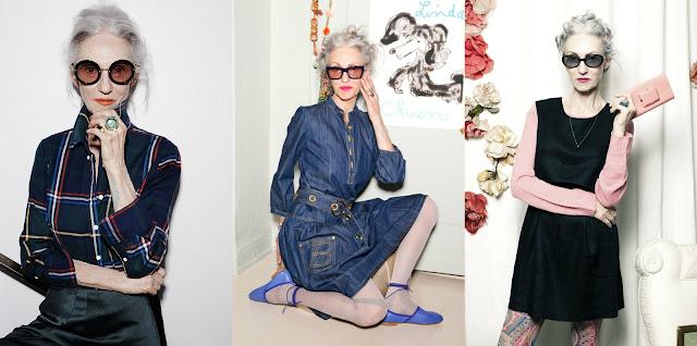 c6b0e03e07664 Seus ícones de estilo são Ingrid Bergman, Audrey Hepburn e Frida Kahlo. E  aconselha para ter longevidade e beleza, que toda mulher deve comer bem, ...