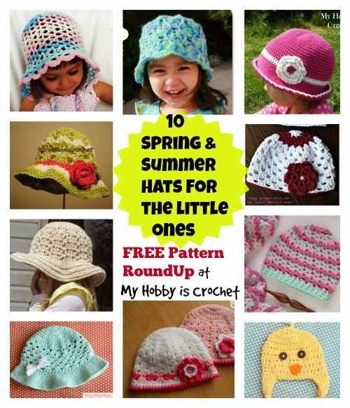 My Hobby Is Crochet  Spring-Summer-Fall Hats For Babies and Children ... e4d2b5c0edd