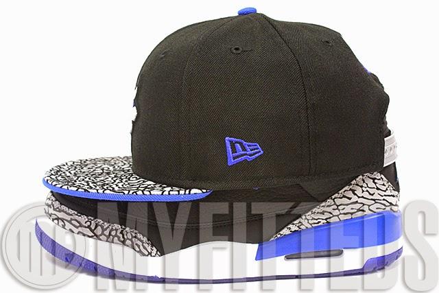 Chicago Bulls Black Elephant Print AJ III Sport Blue New Era 59Fifty Fitted Hat