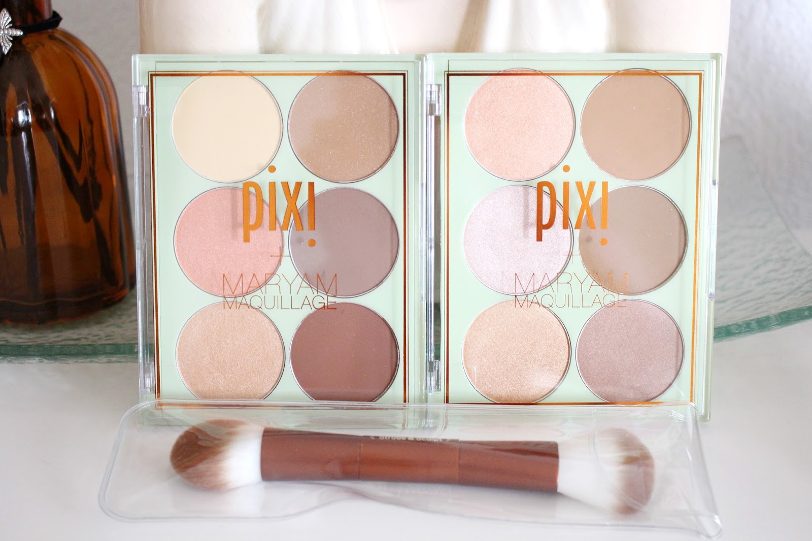Pixi Beauty Maryam Maquillage Strobe & Bronze Glow & Bronze Palette & Strobe & Sculpt Highlight & Contour Palette