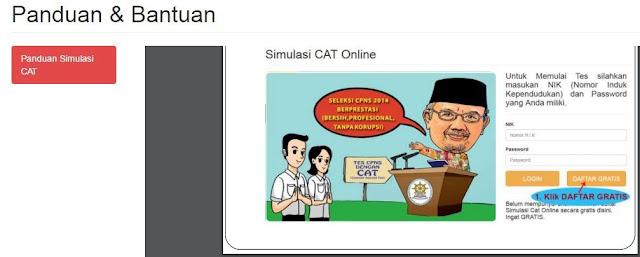 gambar cara daftar simulasi CAT BKN