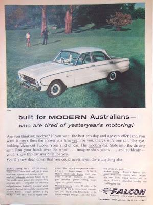 vintage car ad ford falcon australia