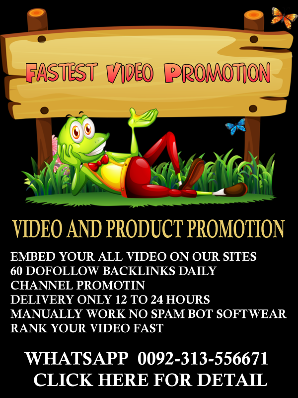 Fast video Promotion Via Dofallow Backlinks