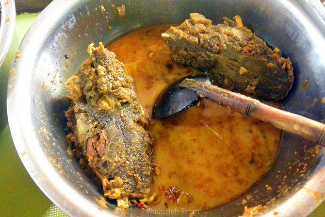 Sajian kuliner Mangut Beong di Magelang