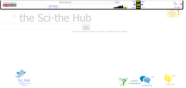 Sci-Hub, in 2014 Image credit: www.waybackmachine.org