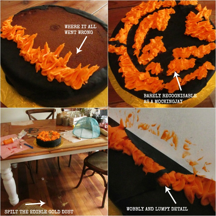 Mockingjay cake mistakes