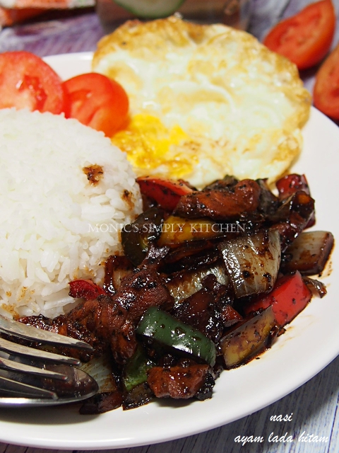 chicken blackpepper with rice