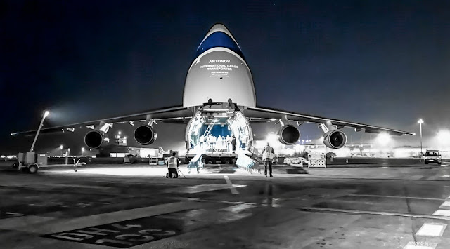 Antonov An-225 At Air Cargo Event in China Compartment Opened