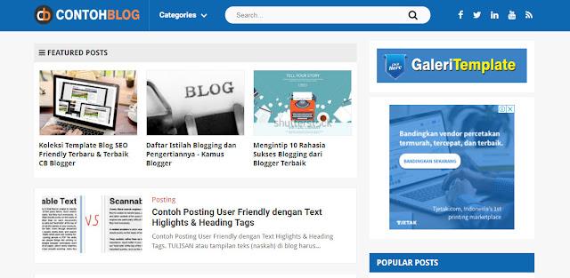 Situs Penyedia Template Blogger Gratis dan Premium