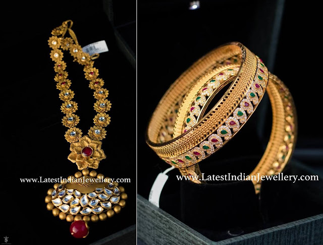 Unique Floral Haram and Bangles