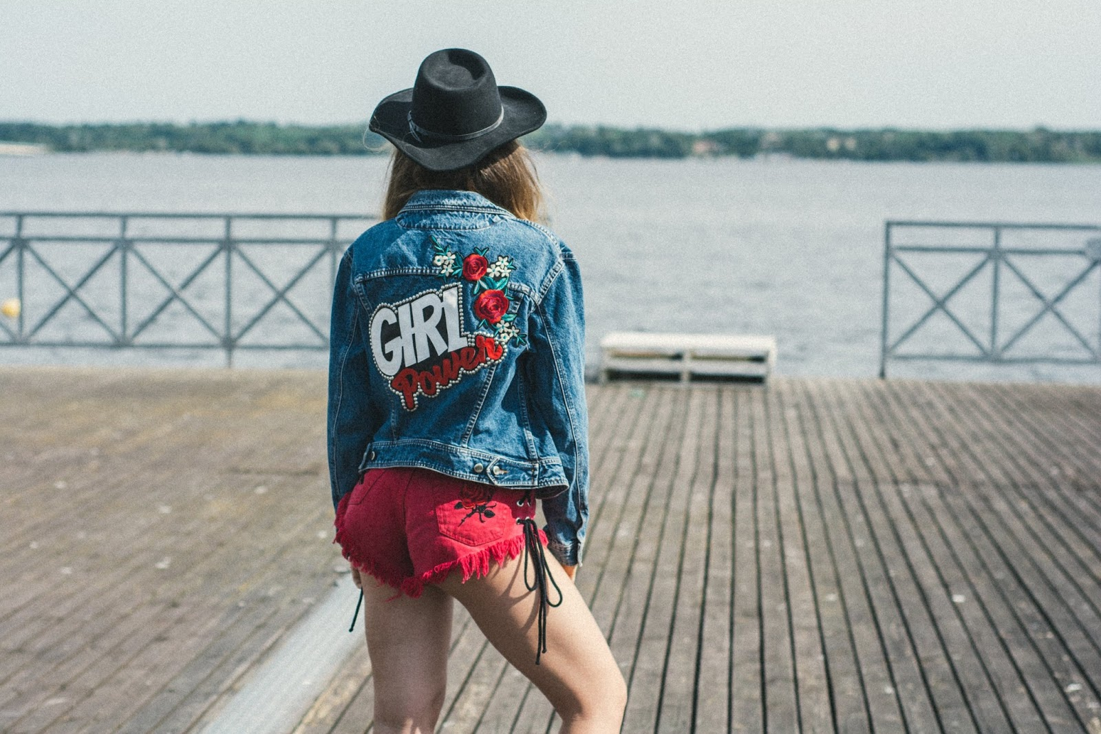 girl power denim jacket