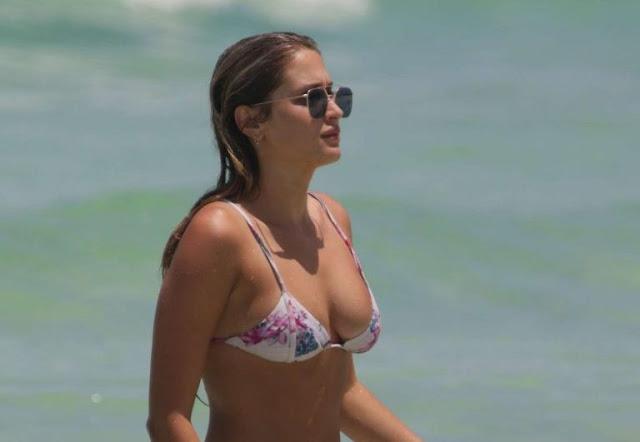 Francesca Aiello in Bikini at the beach in Miami