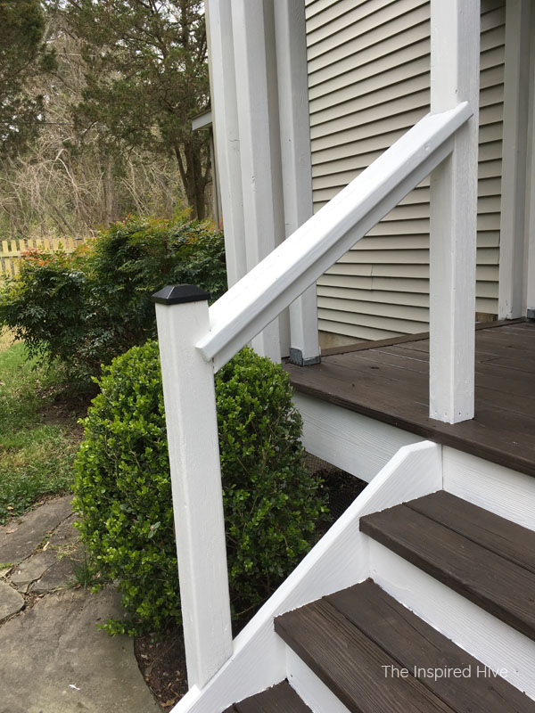 Front porch stair makeover