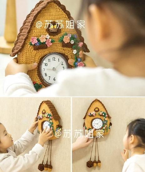 Часы с кукушкой для детей крючком (1)