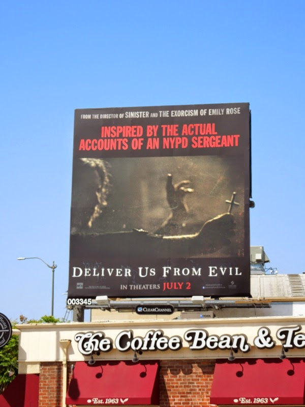 Deliver Us From Evil exorcism movie billboard