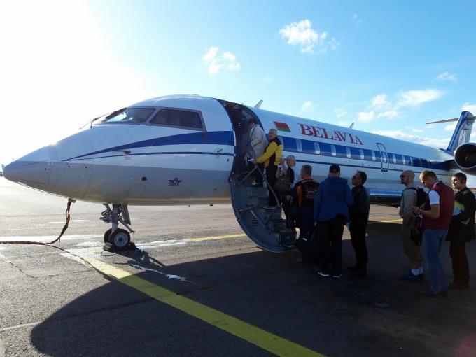 Belavia Belarusian Airlines kokemuksia lentoyhtiöstä - matkustaminen lentokoneella