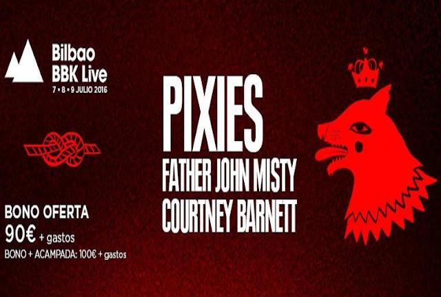 Pixies, Courtney Barnett y Father John Misty en el Bilbao BBK Live 2016