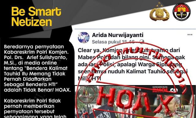 Div Humas Polri: Pernyataan Kabareskrim di RMOL Hoax, Netizen: Kenapa tak Minta Klarifikasi ke Medianya?
