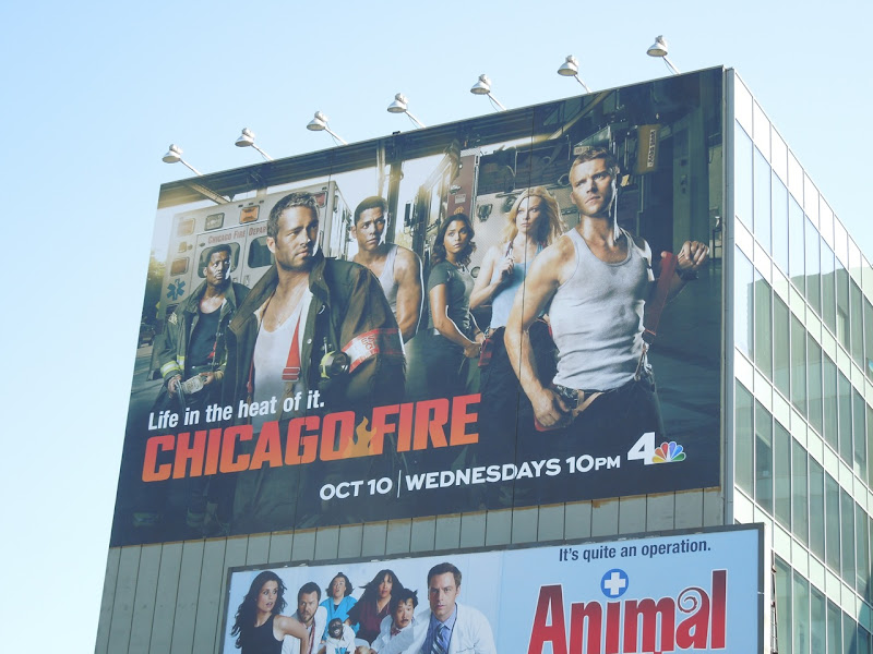 Giant Chicago Fire season 1 TV billboard