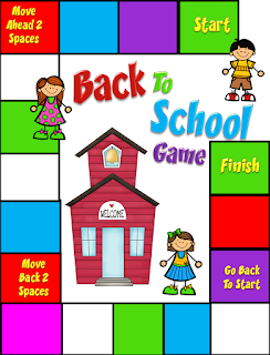 Game board to use with elementary students the first week back to school
