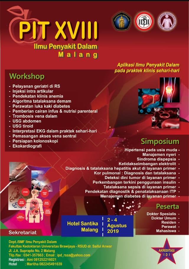 PIT XVII ILMU PENYAKIT DALAM 2-4 AGUSTUS 2019 MALANG (SKP IDI)