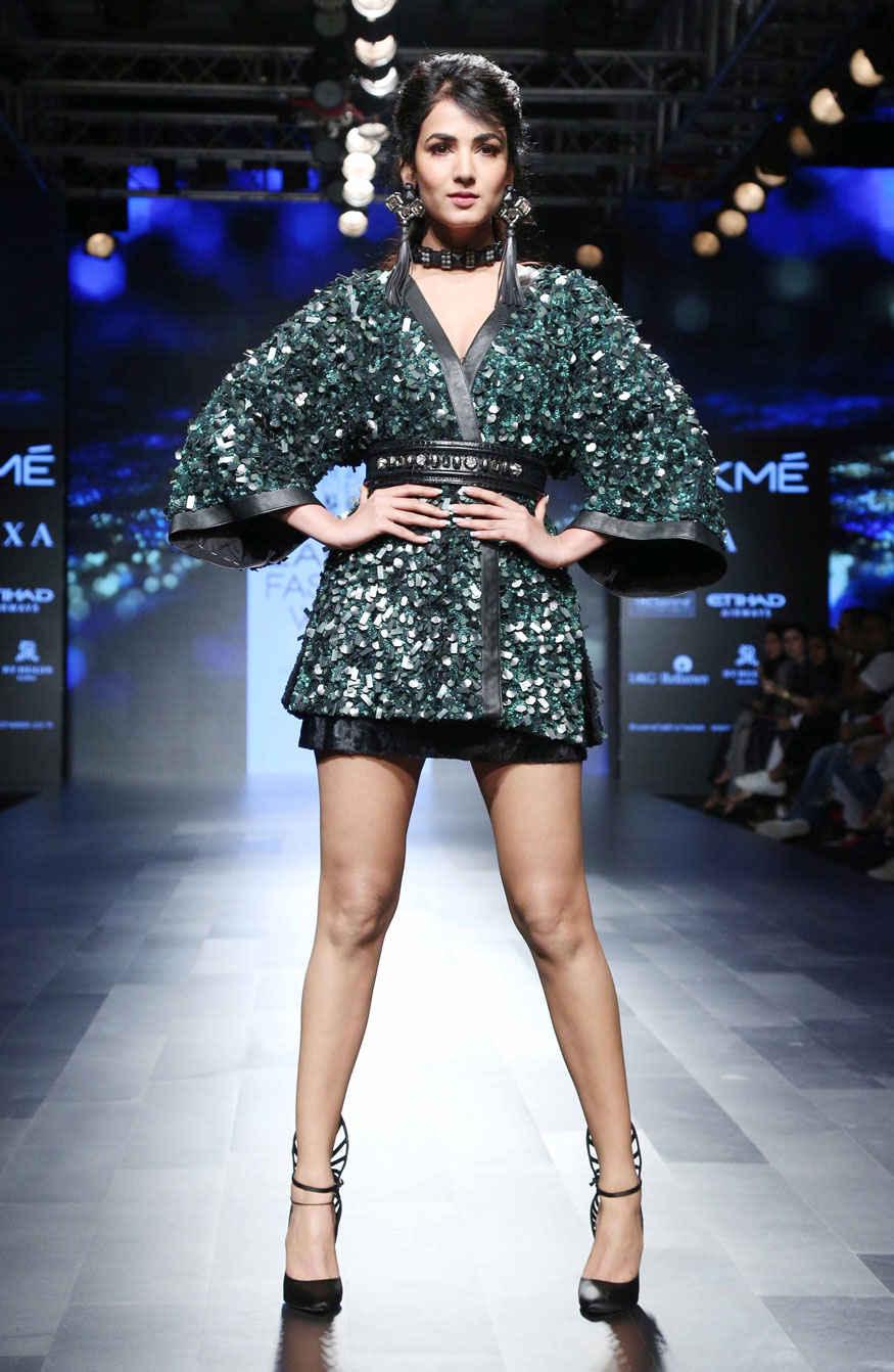 Sonal Chauhan at Lakme Fashion Week 2017 In Mumbai