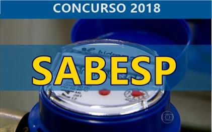 Edital Concurso Sabesp 2018: Inscrição 2018