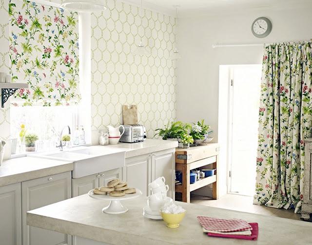 Papeles para cocinas un golpe de efecto con estilo estudio estilo - Papeles decorativos para cocinas ...