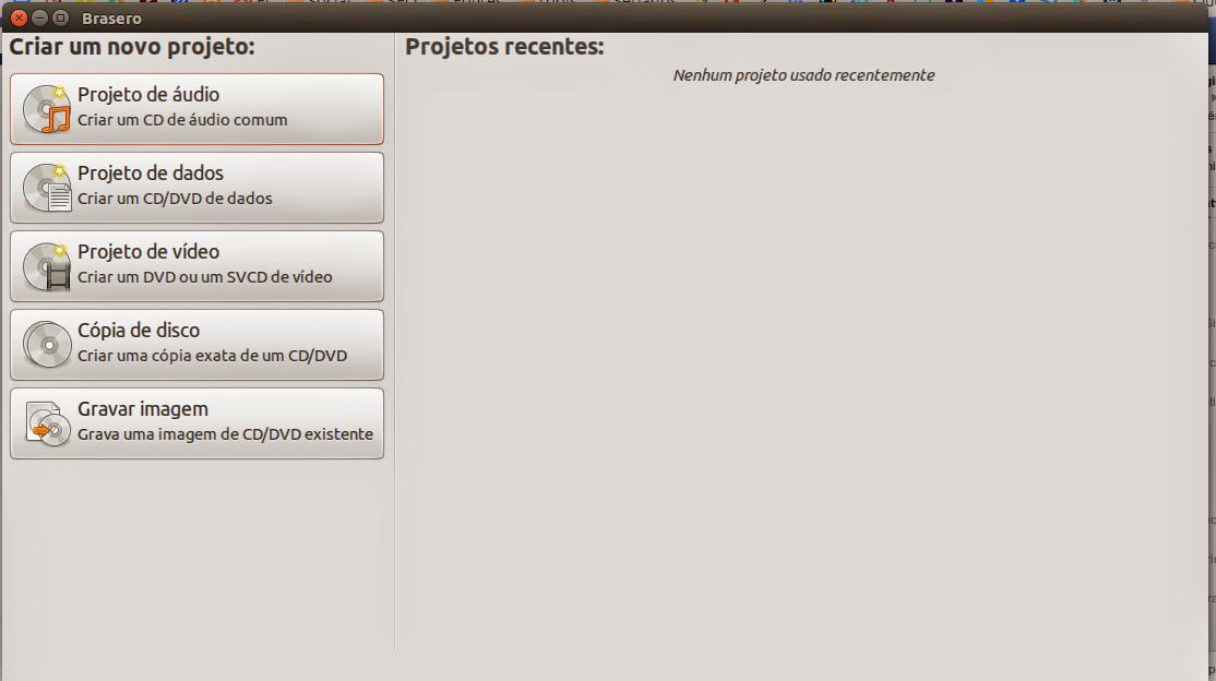 Brasero no Ubuntu