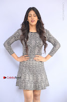 Actress Chandini Chowdary Pos in Short Dress at Howrah Bridge Movie Press Meet  0031.JPG