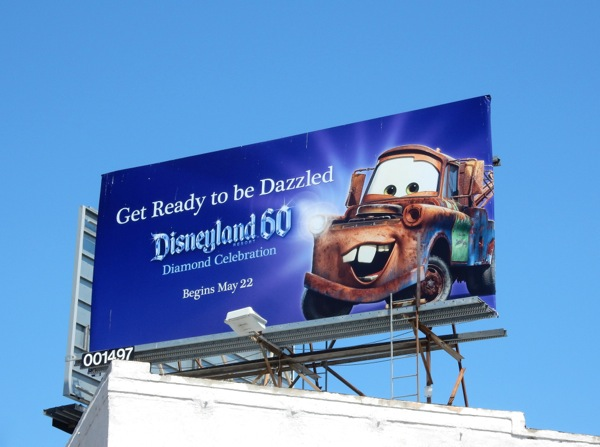 Cars Mater Disneyland 60 billboard
